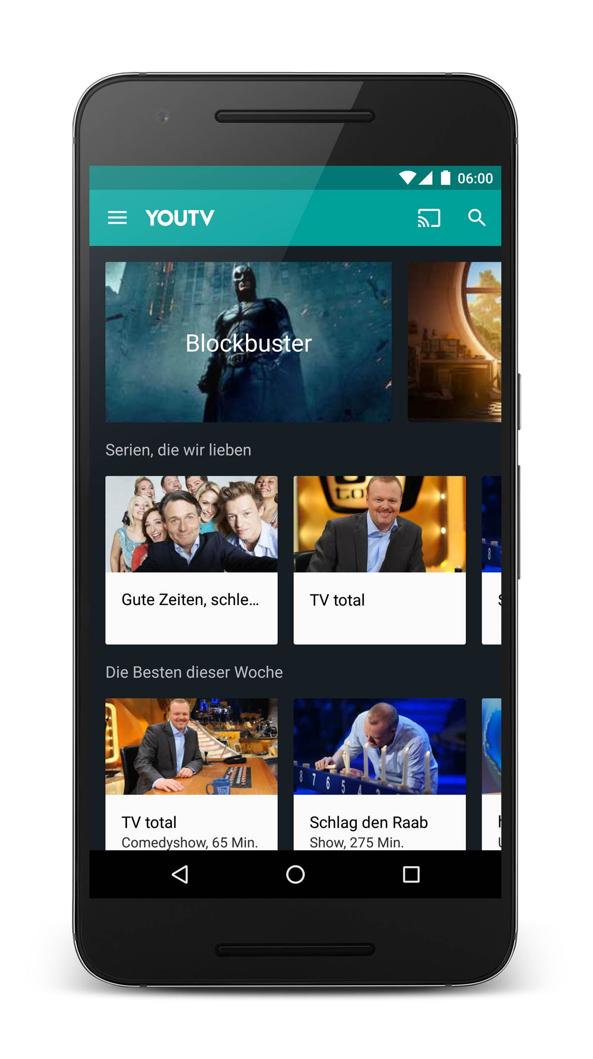 Android App YouTV TV Mediathek