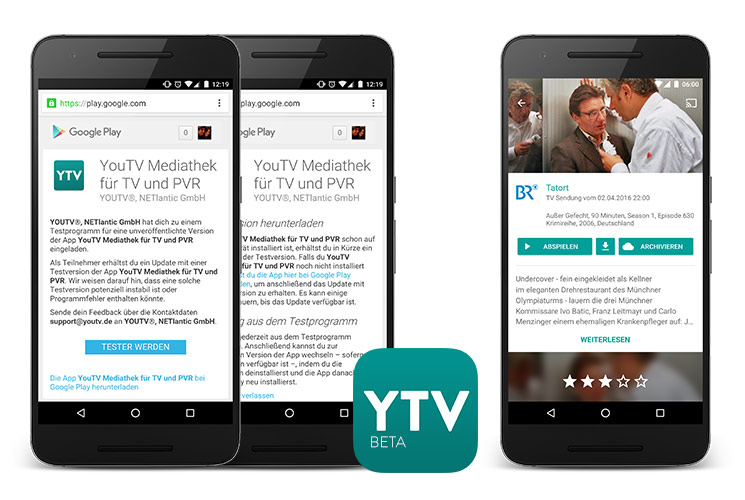 Android Beta YouTV App